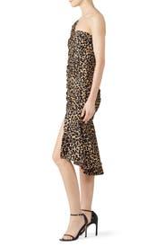 One Sleeve Leopard Dress by Jonathan Simkhai