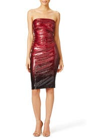 Crushed Bodice Dress by Donna Karan New York