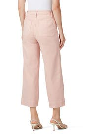 Pink Oyster Emmett Wide Leg Crop Pants by Madewell