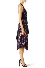 Floral Bodice Overlap Dress by Proenza Schouler