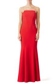 Red Academy Gown by Jill Jill Stuart