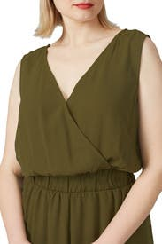 Green Cropped Jumpsuit by JUNAROSE