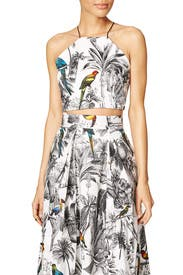 Toile Print Halter Top by Milly