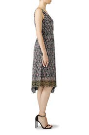 Geo Faux Wrap Dress by Fuzzi