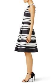 Black and White Cape Stripe Dress by kate spade new york