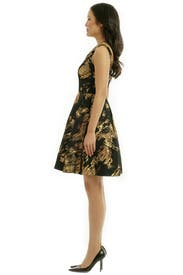 Gold Stroke Dress by Theia