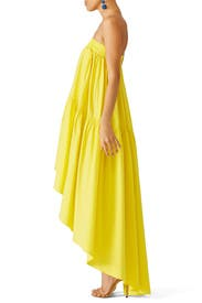 Yellow High Low Dress by Martin Grant
