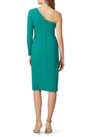 Green One Shoulder Sheath by Donna Morgan