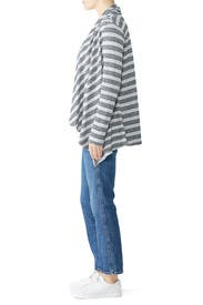 Grey Amie Cozy Stripe Cardigan by B Collection by Bobeau