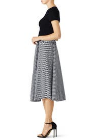 Gingham Midi Skirt by StyleKeepers