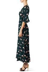 Scribble Printed Midi Dress by Derek Lam 10 Crosby