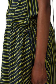 Striped Asymmetric Dress by Nina Ricci