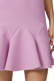 Lilac Flounce Hem Dress by Victoria Victoria Beckham