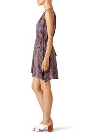 Multi Printed V-Neck Dress by Derek Lam 10 Crosby