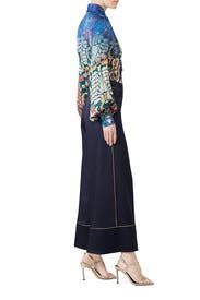 Navy Satin Culottes by Peter Pilotto