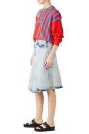 Washing Denim Skirt by Proenza Schouler