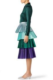Green Lauren Skirt by DELFI Collective