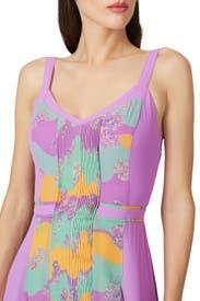 Pastel Plisse Dress by Three Floor