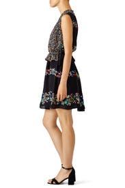 Floral Stripe Mash Up Dress by Derek Lam 10 Crosby