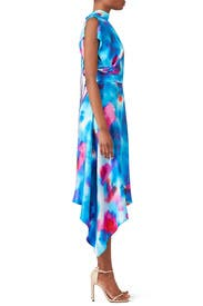 Tie Dye High Neck Dress by MSGM