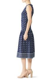 Navy Printed Midi Dress by Draper James