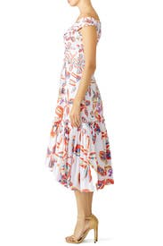 White Floral Sweetheart Dress by Peter Pilotto