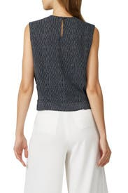 Pleated Crinkle Blouse by Derek Lam Collective