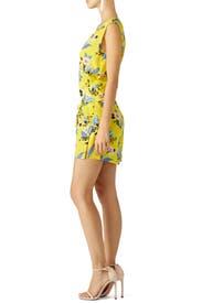 Yellow Floral Wrap Dress by Diane von Furstenberg