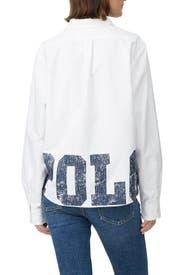 White Polo Hem Shirt by Polo Ralph Lauren