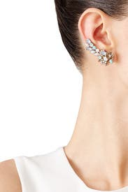 Floral Crawler Earrings by Marchesa Jewelry