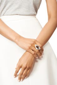 Polished Crystal Ring by Kenneth Jay Lane