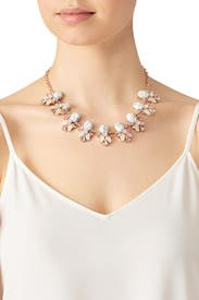 White Stone Necklace by Slate & Willow Accessories