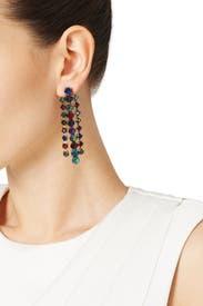 Hyperdrive Linear Multicolored Earring by Erickson Beamon