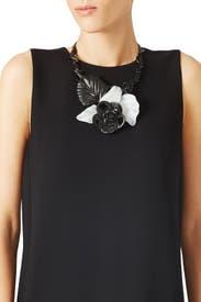 Resin Flower Necklace by Oscar de la Renta