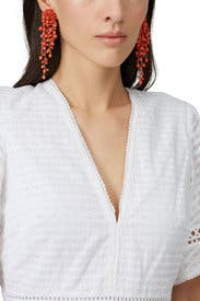Beaded Drop Earrings by Oscar de la Renta