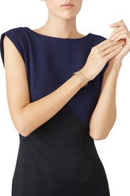Gold Cross Cuff by Slate & Willow Accessories