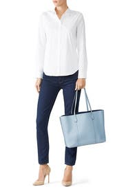 Blue Cloud Perry Tote by Tory Burch Accessories
