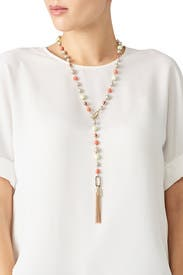Beaded Tassel Lariat by Alexis Bittar
