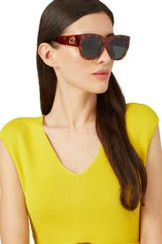 Tortoise Oversized Sunglasses by Gucci