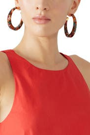 Bo Caftan Hoops by Gas Bijoux