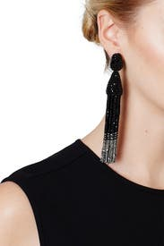 Ombre Tassel Earrings by Oscar de la Renta