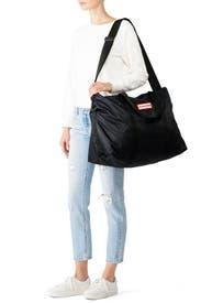 Black Nylon Weekender Bag by Hunter Handbags