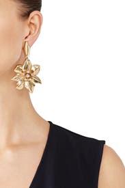 Bisque Flower Earrings by Oscar de la Renta