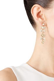 Crystal Pave Circle Drop Earrings by Slate & Willow Accessories