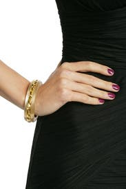 Gilded Lucite Bangle by Alexis Bittar