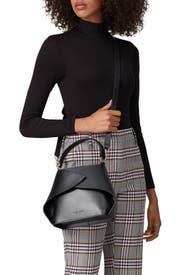 Black Caroline Satchel Bag by GIAQUINTO