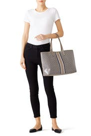 Grey Gemini Link Tote by Tory Burch Accessories