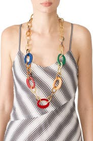 Multi Small Horn Necklace by Diane Cotton Jewelry