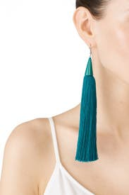 Blue Tassel Cone Earrings by Eddie Borgo