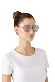 Silver Rider Aviator Sunglasses by Elizabeth and James Accessories